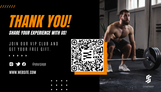 Sport Amazon post-purchase template with QR code