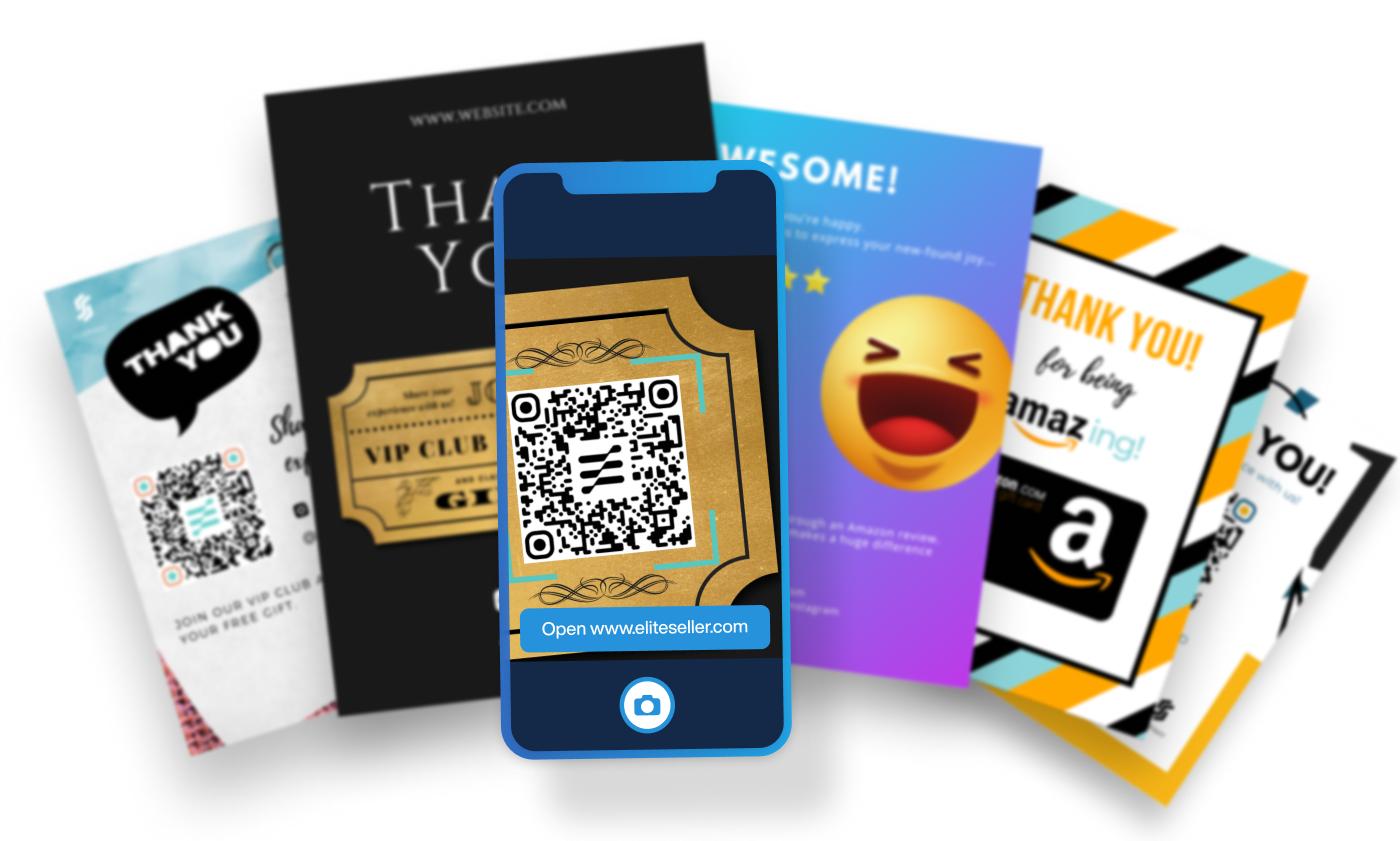 Amazon post-purchase thank you templates